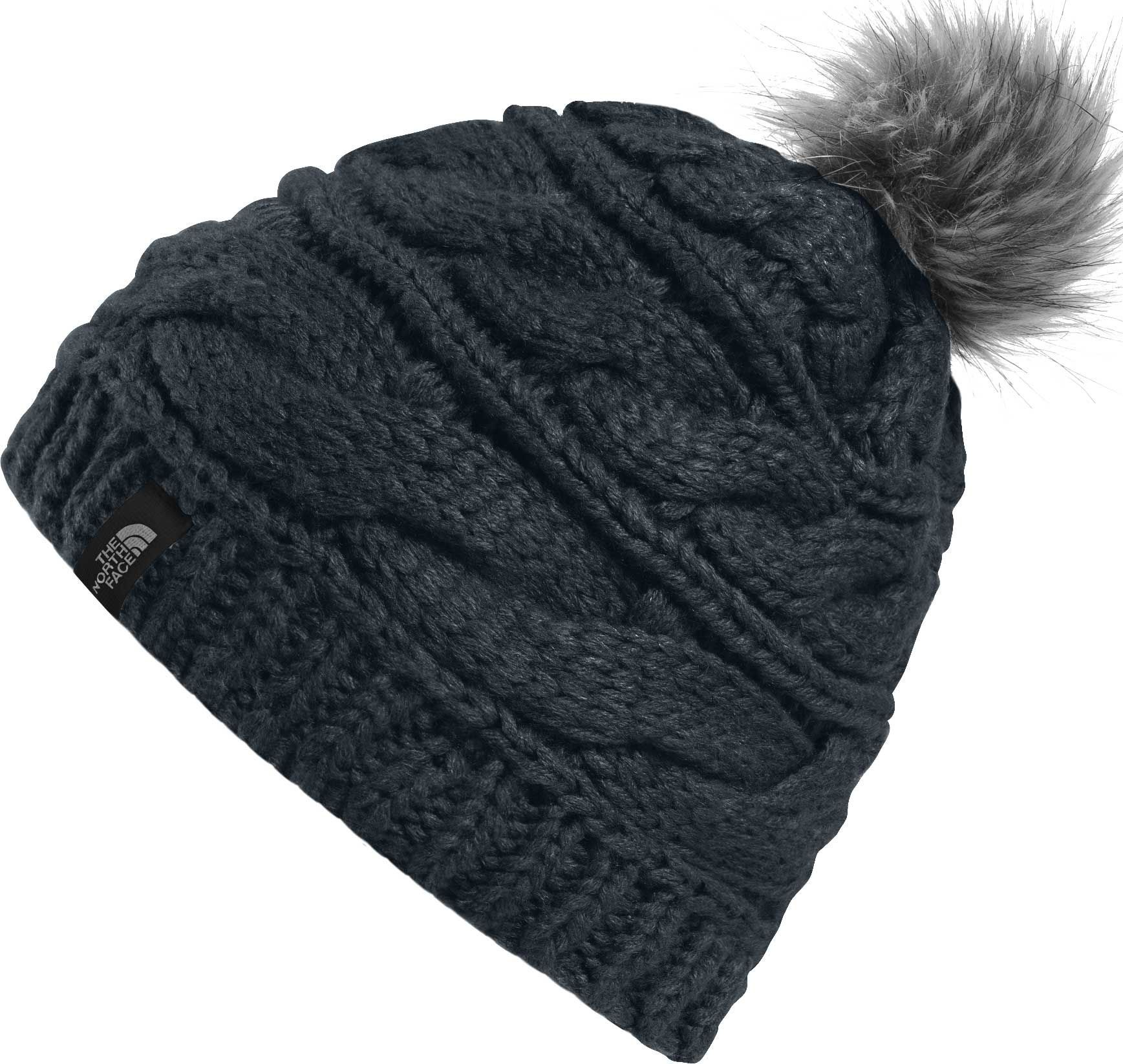5f02a7643 The North Face Women's Triple Cable Fur Pom Beanie | Products | Fur ...