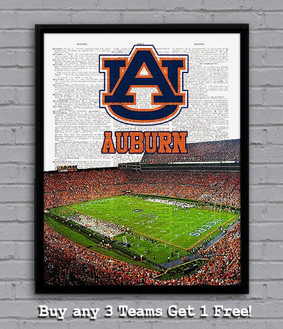 Home Design Ideas Buch: Jordan-Hare Stadium Artwork For The Wall!