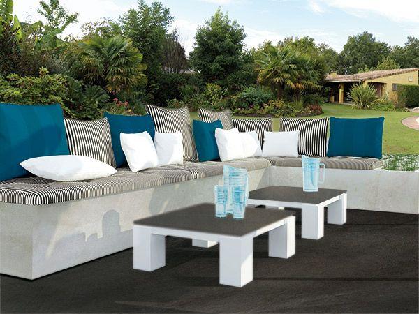 redoutable salon de jardin beton