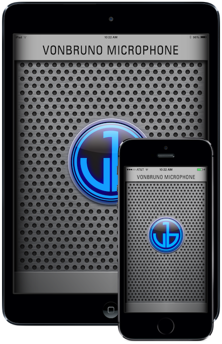 VonBruno Microphone Live Mic iPhone iPad App Microphone