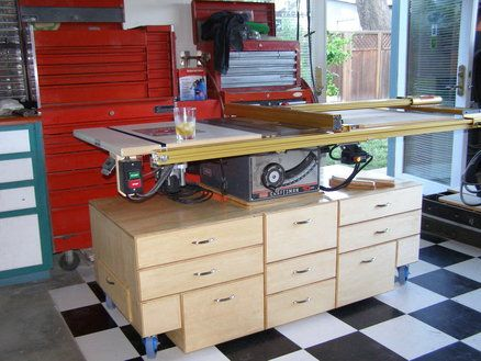 Table Saw Mobile Cart Woodworking Table Saw Craftsman Table Saw Woodworking Shop Projects