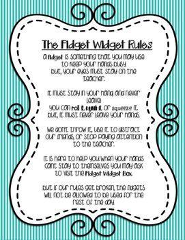 Fidget Widget Rules Fidgets And Cheweley Adhd Fidgets