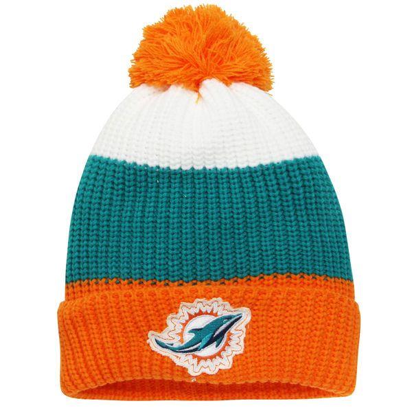new style 0c6b0 ec6b2 ... cheap miami dolphins youth vintage ribbed cuffed knit hat aqua orange  11.99 35351 7acfa