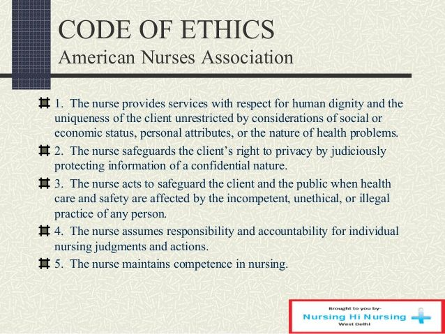 picture relating to Ana Code of Ethics Printable named Code of ethics nursing