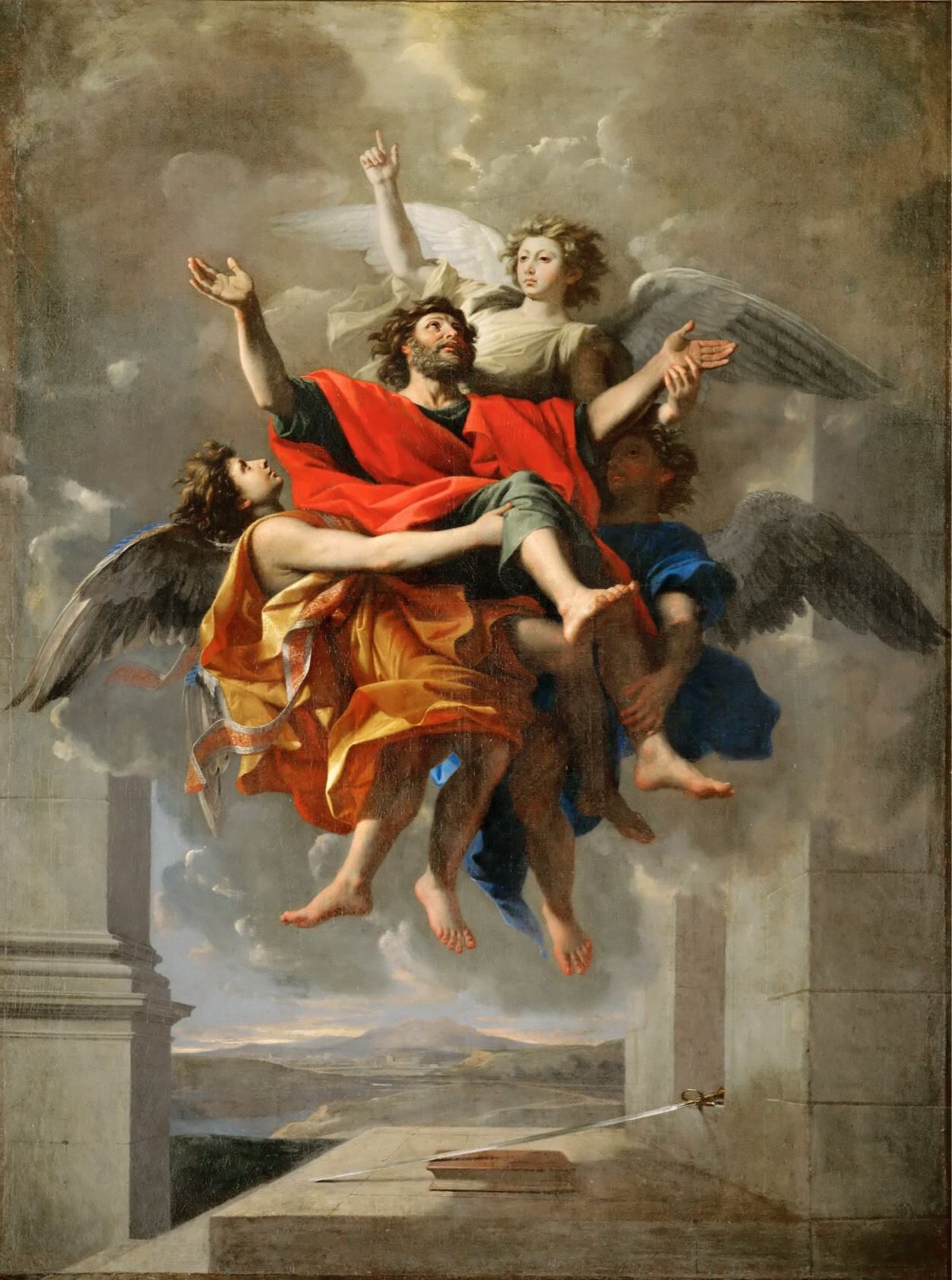 Genre barock  Nicolas Poussin - Apotheosis of Saint Paul | Religious Art Genre ...