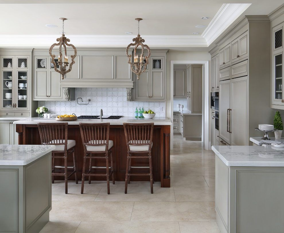 Image Result For Revere Pewter Cabinets Revere Pewter Kitchen White Countertops Kitchen Cabinet Design