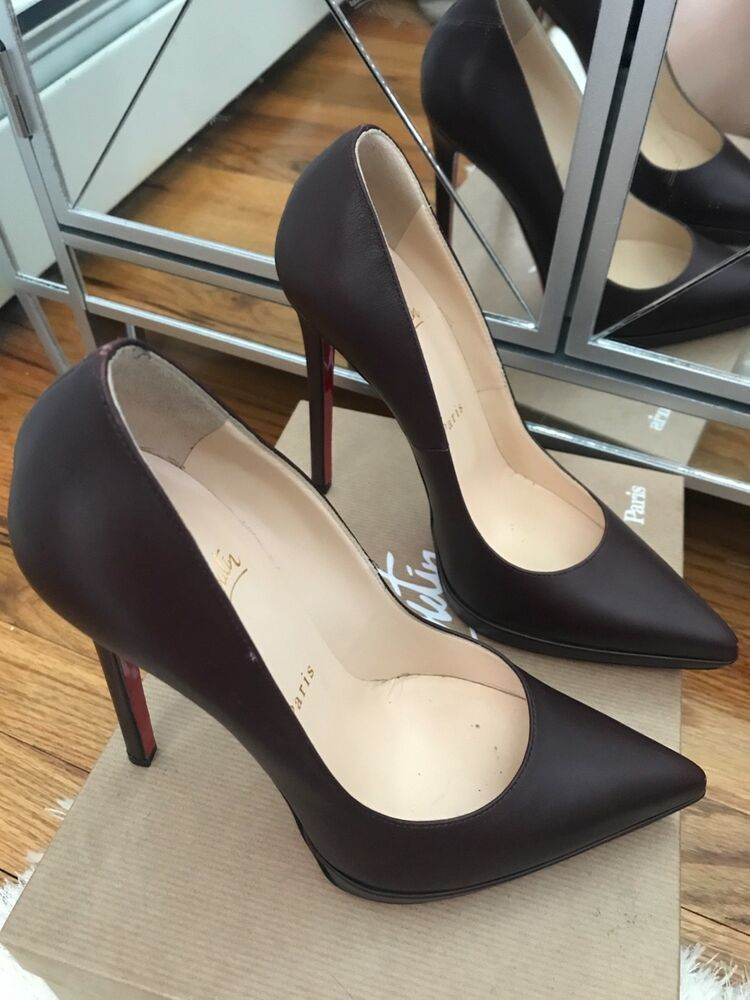 3eb5e263ae90 Christian Louboutin 38 Red burgundy leather pointy toe stiletto shoes heels  sexy  ChristianLouboutin  PumpsClassics