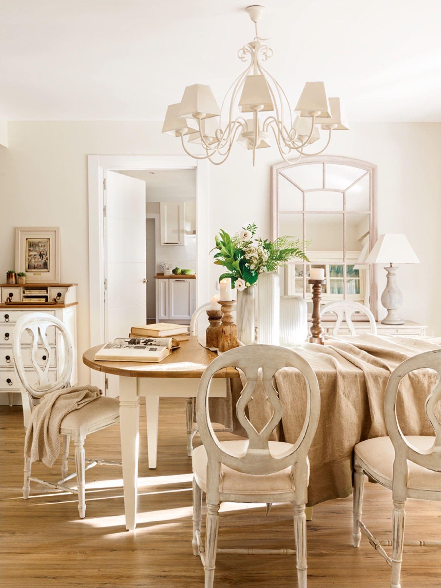 comedor de estilo rustico provenzal | Candelabros de madera, El ...