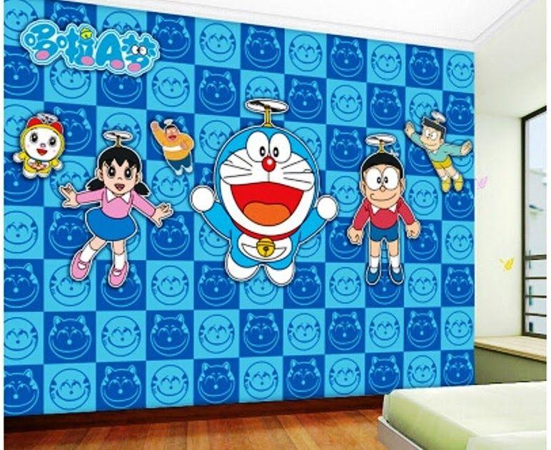 paling keren 26 wallpaper doraemon kamar motif wallpaper on wall stickers stiker kamar tidur remaja id=46004