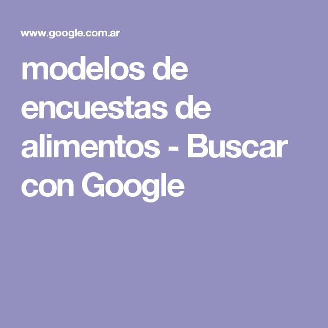 modelos de encuestas de alimentos - Buscar con Google