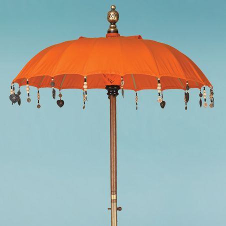 Tangerine Orange Bistro Umbrella From The Indian Garden Company