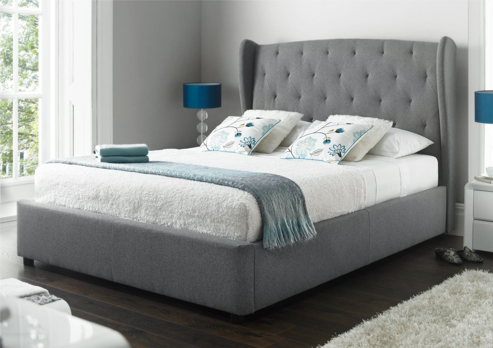 Upholstered wing backed beds are one of the latest trends to hit the ...