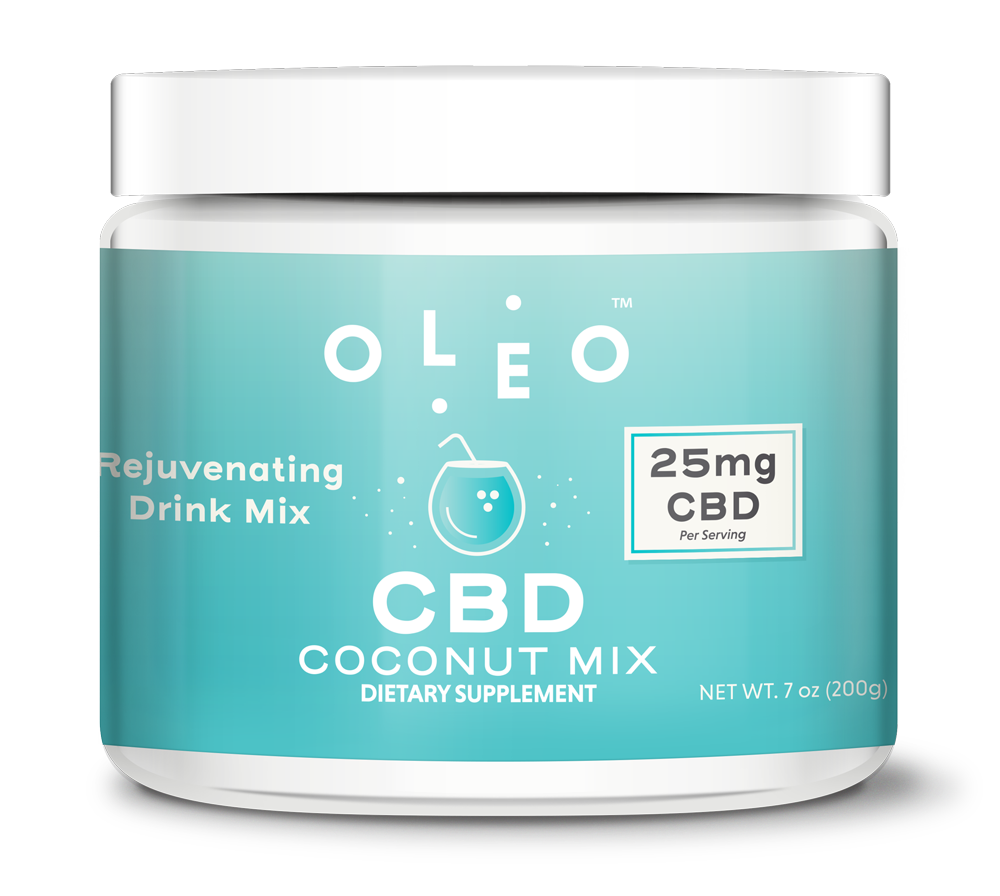 Hot Tips: Muscle Pain Relief After Workout : Coconut Drink Mix - CBD Muscle Recovery Supplement Packets | OLEO™