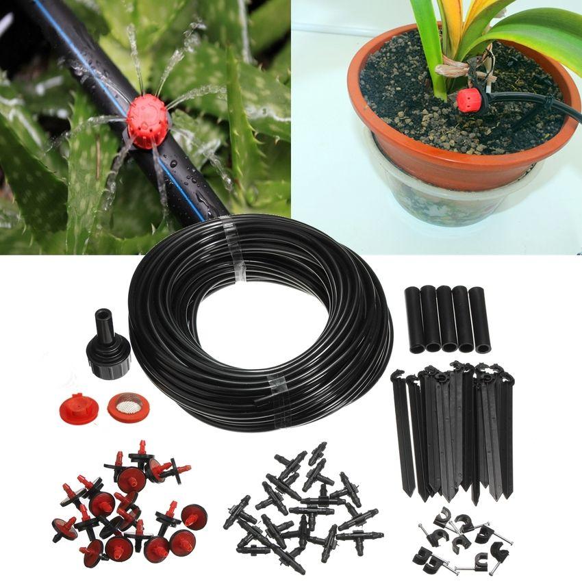 Plantes Fleurs Auto Arrosage Jardin Tuyau Kits À faire soi-même Micro Irrigation Goutte à Goutte Système Co