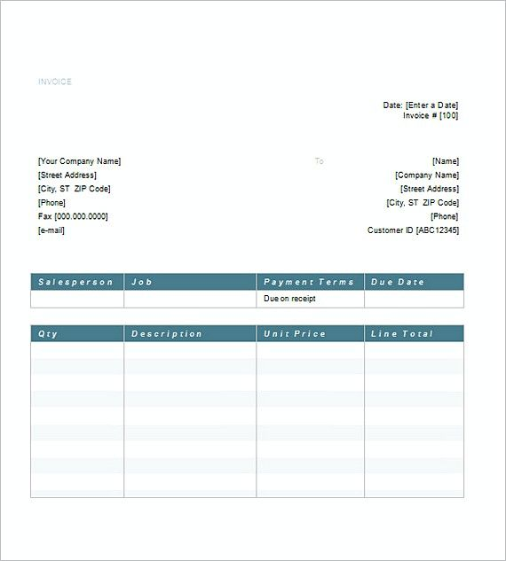 Word Service Invoice templates , Invoice for Services Template - invoice spreadsheet template free