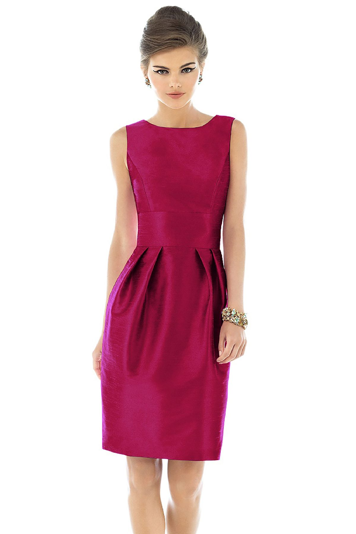 6daf433dedd Shop Alfred Sung Bridesmaid Dress - D522 Quick Delivery in Dupioni at  Weddington Way. Find the perfect made-to-order bridesmaid dresses for your  bridal ...