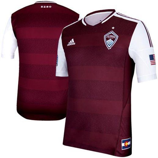 065cc46ef AUTHENTIC Colorado Rapids Burgundy adidas Home Size Medium Soccer Jersey