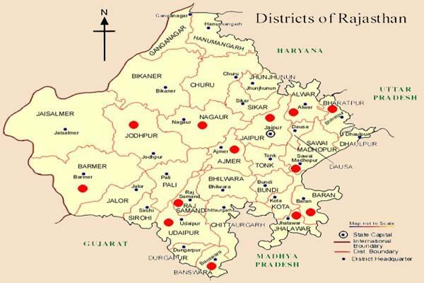 Rajasthan map travel map of rajasthan aps pinterest travel rajasthan map travel map of rajasthan major tourist places of rajasthan sciox Image collections
