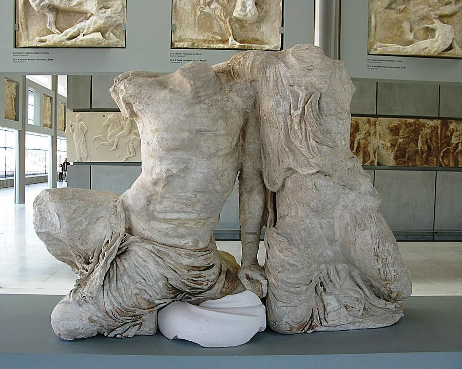 Cecrops Kekrops And His Daughter Pandrosos West Pediment Of The Parthenon 438bc 432bc Marble By Phidias C Classical Greece Ancient Greece Parthenon