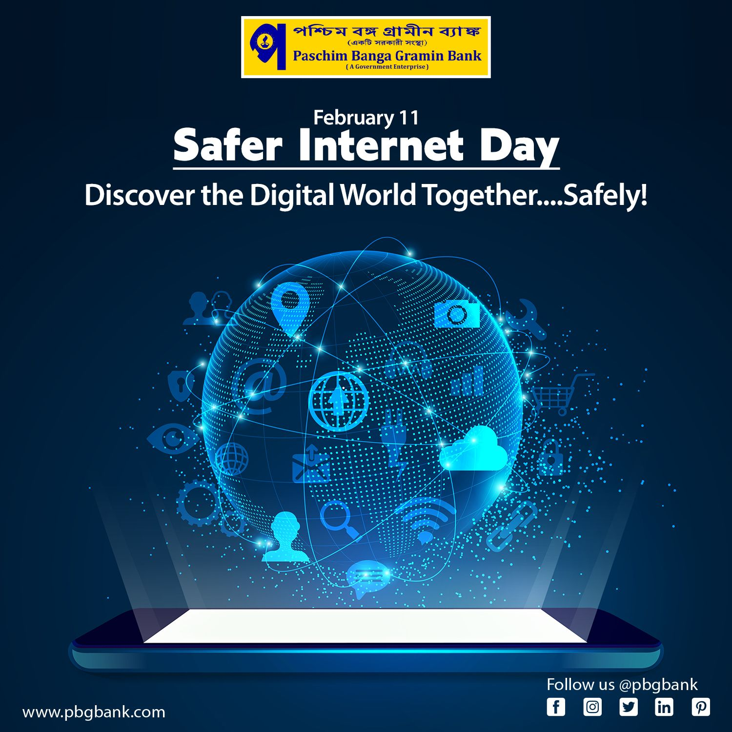 Discover The Digital World Together Safely Paschimbangagraminbank Pbgb Saferinternetday Safety Westbengal In 2020