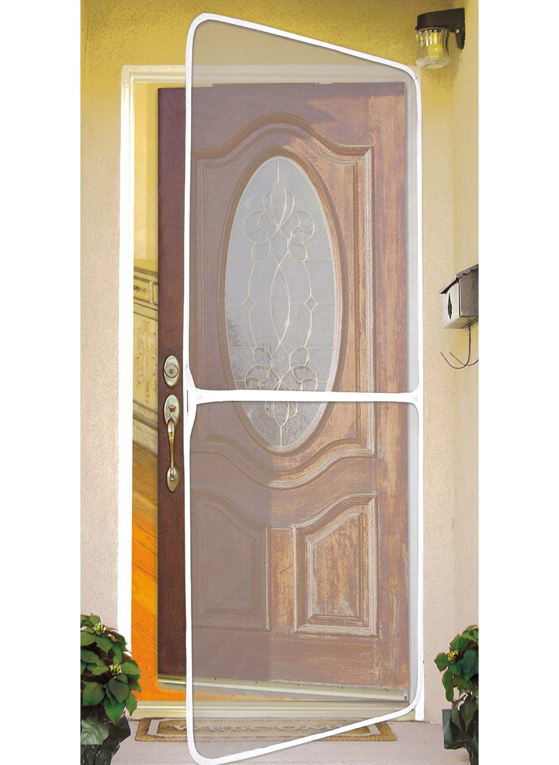 Deluxe Instant Screen Door Easy To Use Self Stick Fasteners No Tools Needed Screen Door Cleans Easily Instant Screen Door Screen Door Portable Screen Door