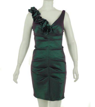Amazon.com: Xscape Rose Shoulder Dress: Clothing