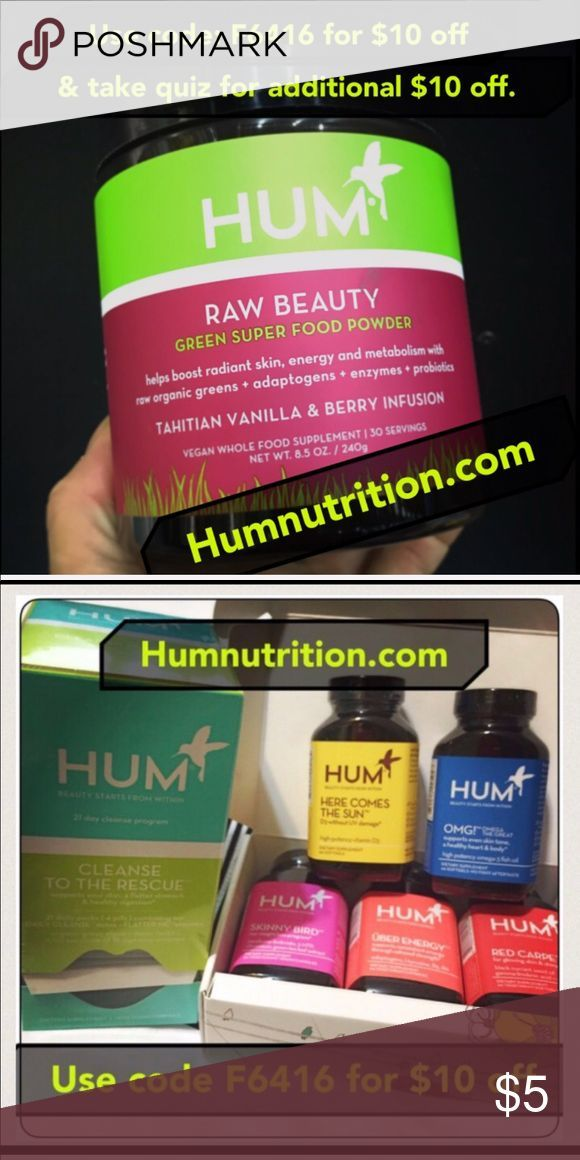 Hum nutrition supplement Hum Nutrition code F6416 for 10 ...