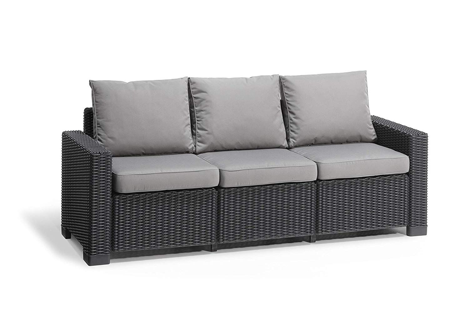 Simple Outdoor Sofa In Grey Full Range Available Amazons Choice So Great Quality Full D Rattan Garden Furniture Sets Outdoor Sofa Rattan Garden Furniture