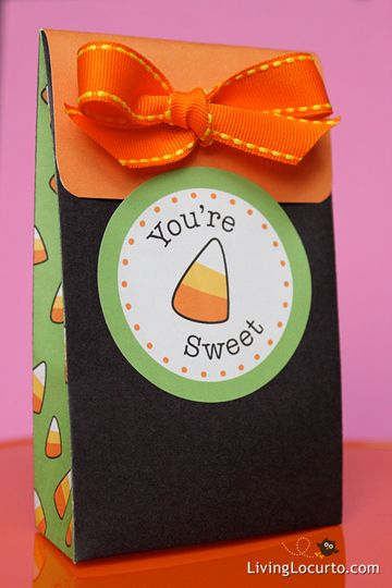 Candy Corn Party Favor Bag  Tags Halloween parties, Favors and - halloween treat bag ideas