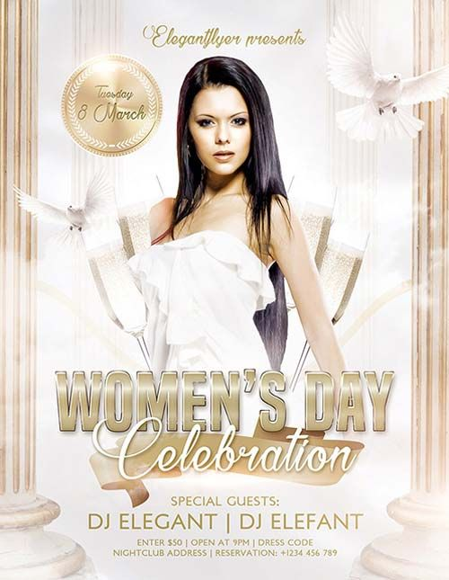 Womens Day Party Free Psd Flyer Template Httpfreepsdflyer
