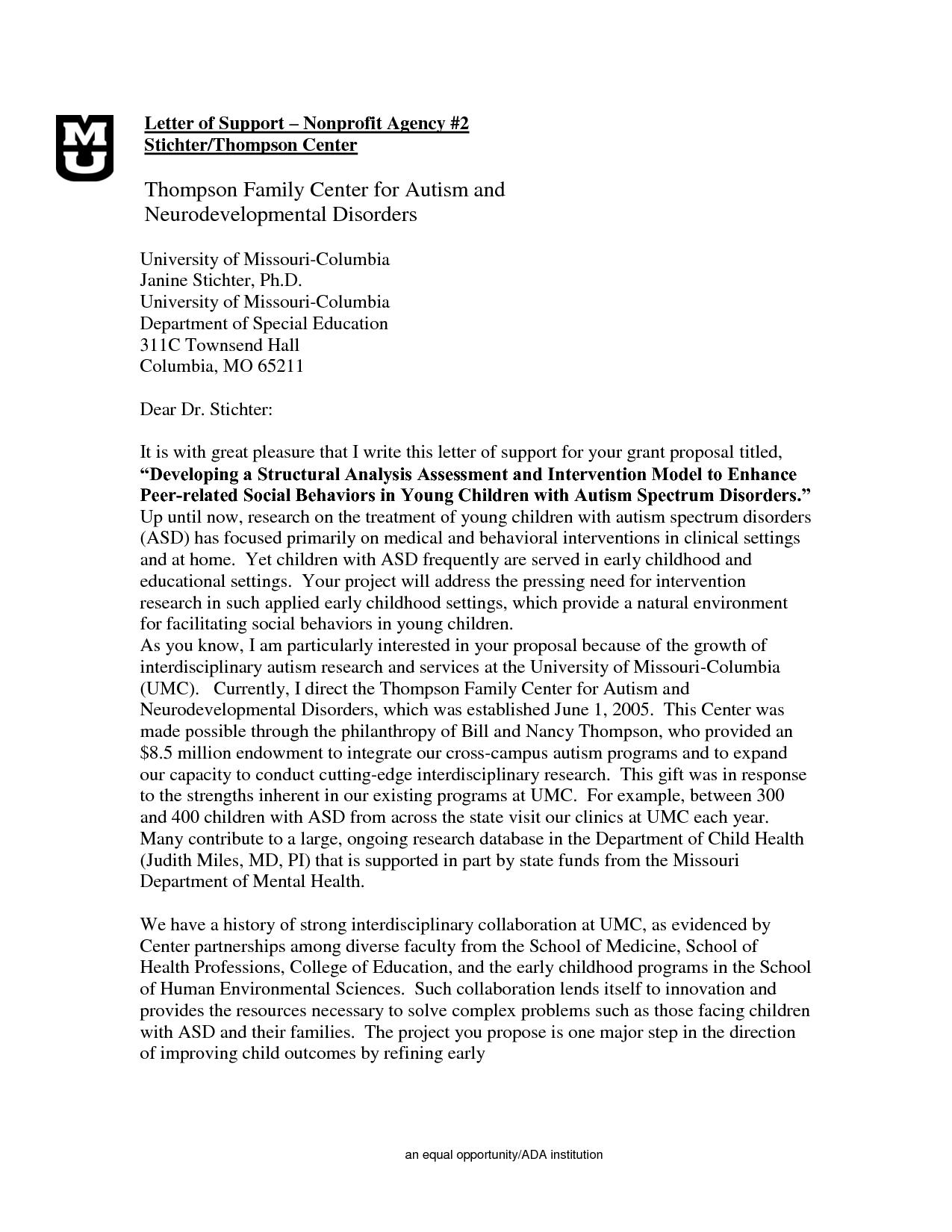 Sample Of Grant Proposal Sample Autism Grant Proposal DOC Work