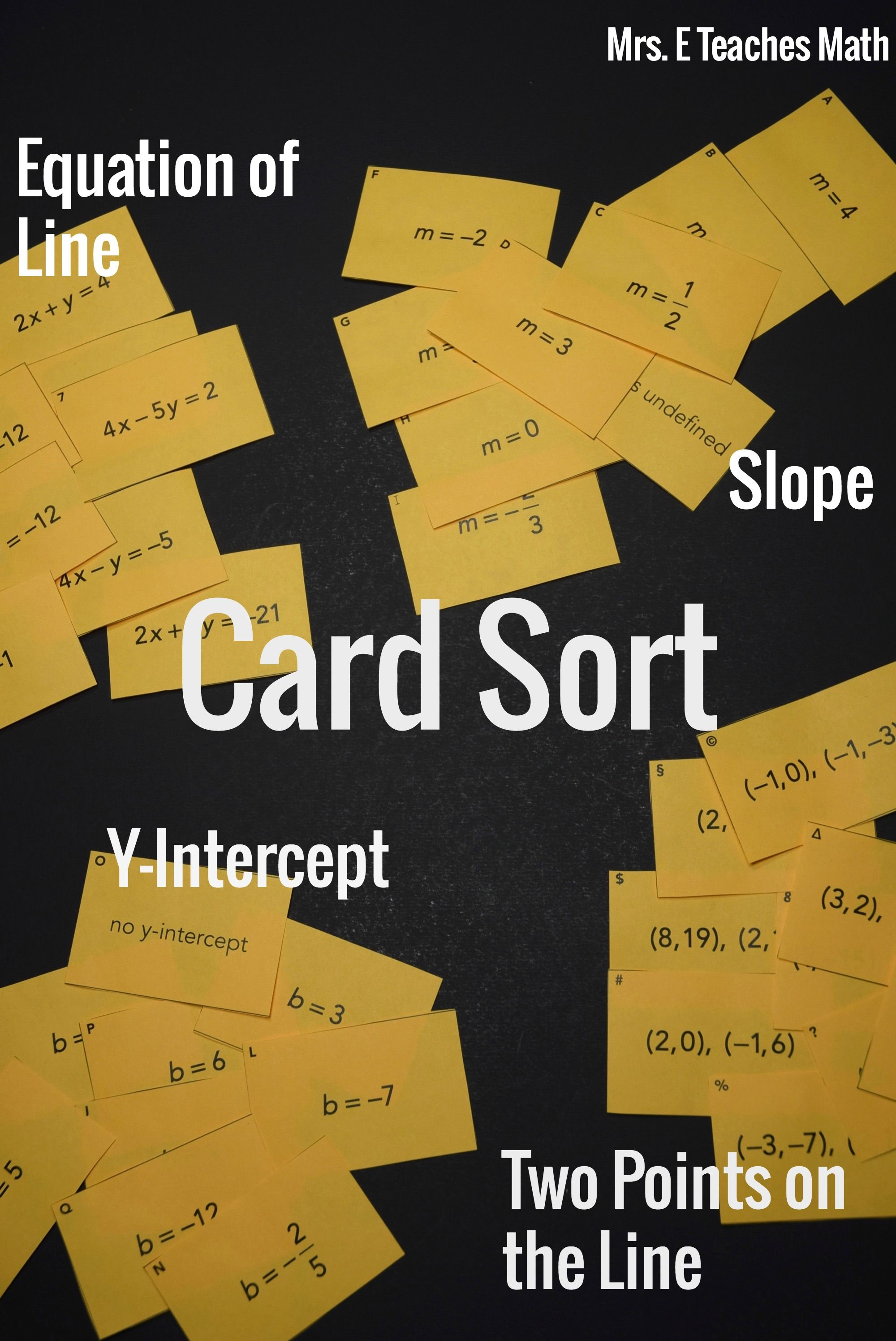 Linear Equations Card Sort