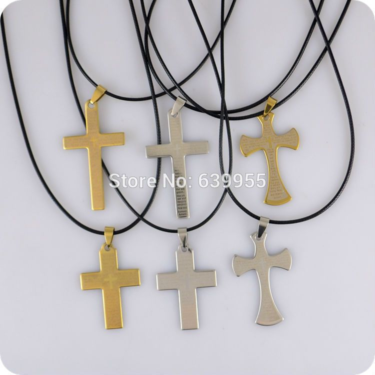 6pcs english bible lords prayer cross stainless steel pendant 6pcs english bible lords prayer cross stainless steel pendant necklace christian catholic fashion religious jewelry wholesale mozeypictures Choice Image