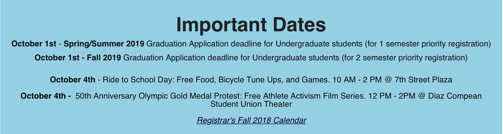 sjsu academic calendar fall 2019