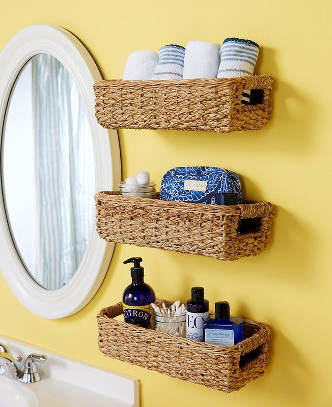Pin By Madison On Ohrganize On In 2020 Bathroom Basket Storage Small Bathroom Storage Bathroom Baskets