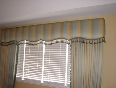 Shaped cornice with trim and matching panel