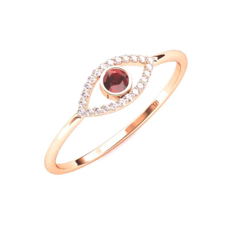 #promise #diamond #womens #garnet #round #rose #gold #evil #ring #eye #red #and #18k #ctw #035 Round Red Garnet and Diamond Womens Evil Eye Promise Ring 0.3...You can find Garnet and more on our website.Round Red Garnet and Di...