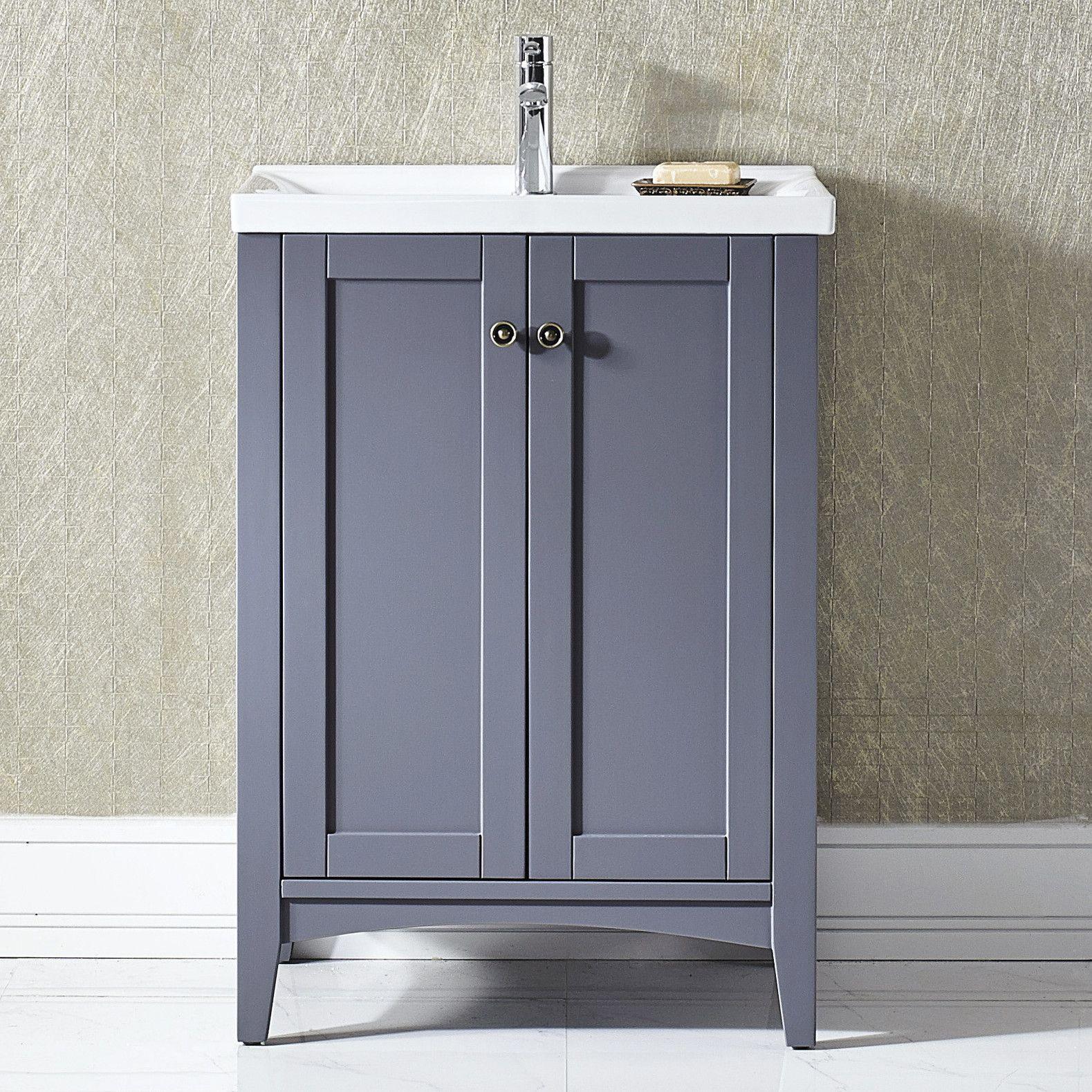 """Vinnova Asti 24"""" Single Vanity Set Bathroom Pinterest"""
