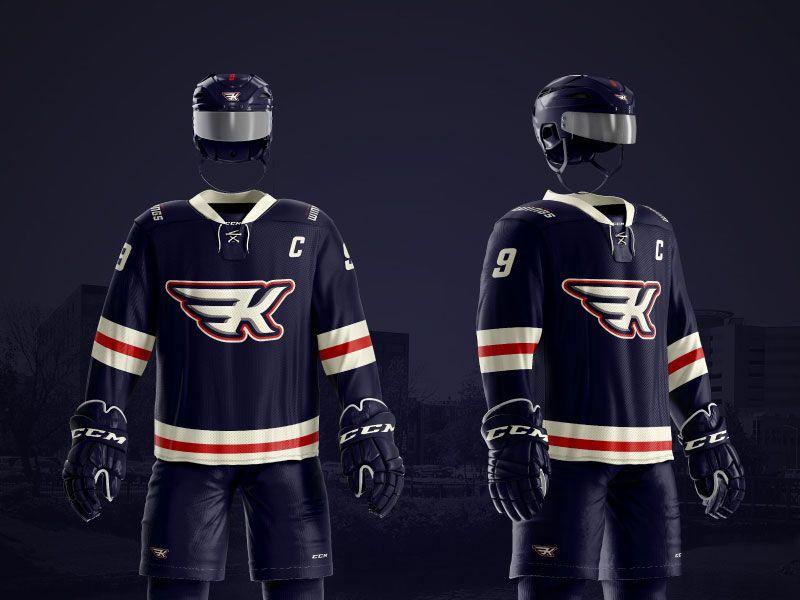 Kalamazoo Wings Jersey Concept Ice Hockey Jersey Sport Outfits Jersey
