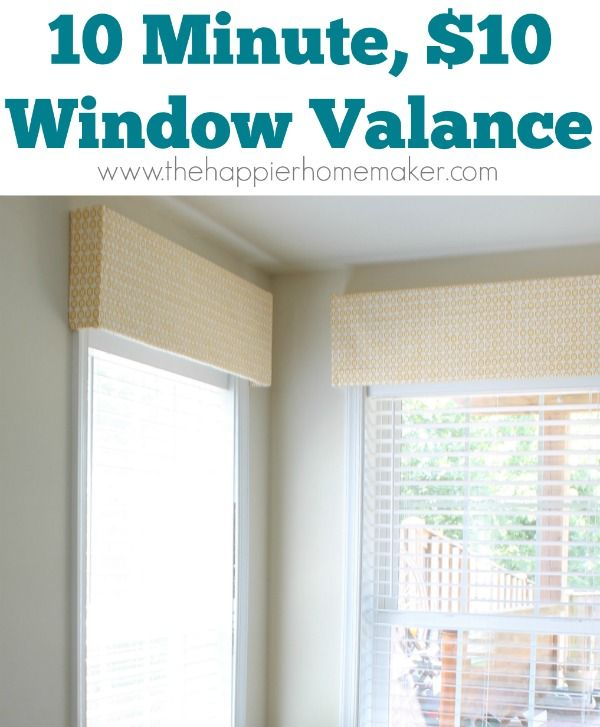 10 Minute Diy Window Valance And Por Post Round Robin