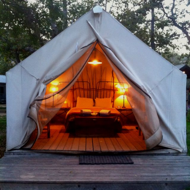 Gl&ing safari tent style at El Capitan Canyon near Santa Barbara & Glamping safari tent style at El Capitan Canyon near Santa Barbara ...