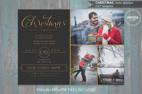 Christmas Mini Session Template @creativework247 Flyer Templates