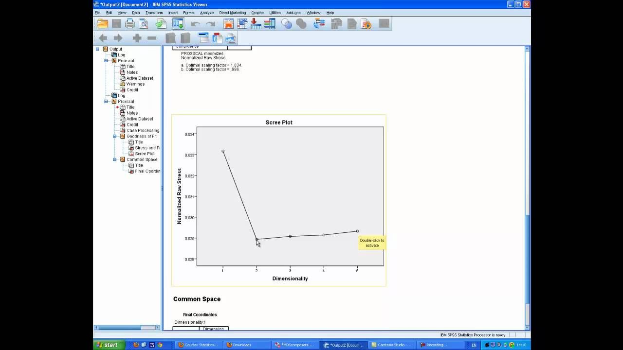 Multidimensional Scaling on SPSS Demonstrating the use of