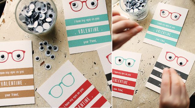 Free Printable: I only have my {googly} eyes on you Valentines