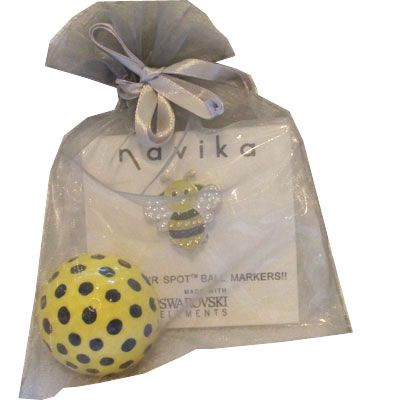 Navika Ladies Golf Gift Combos : Bumble Bee Ball Marker & Visor Clip and Golf Ball. Find more awesome golf accessories at #lorisgolfshoppe