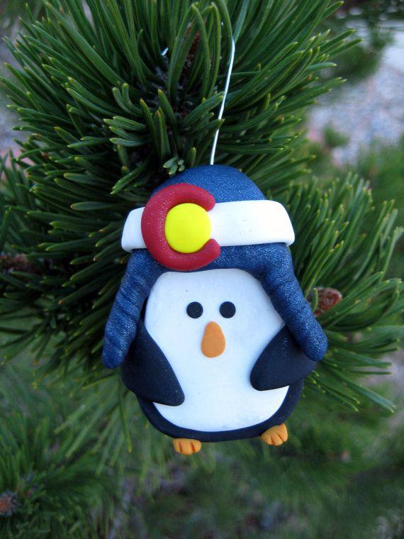 Colorado Christmas Ornaments Part - 19: Colorado Proud Penguin Christmas Ornament By WeAreColoradoCrafts