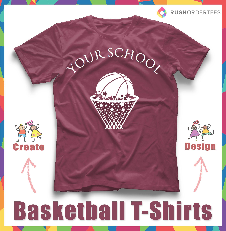 Create A Custom Basketball Custom T Shirt In Our Easy To Use Design
