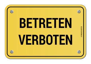 Kostenloses Schild Betreten Verboten Schilder Betreten Verboten Gestalten