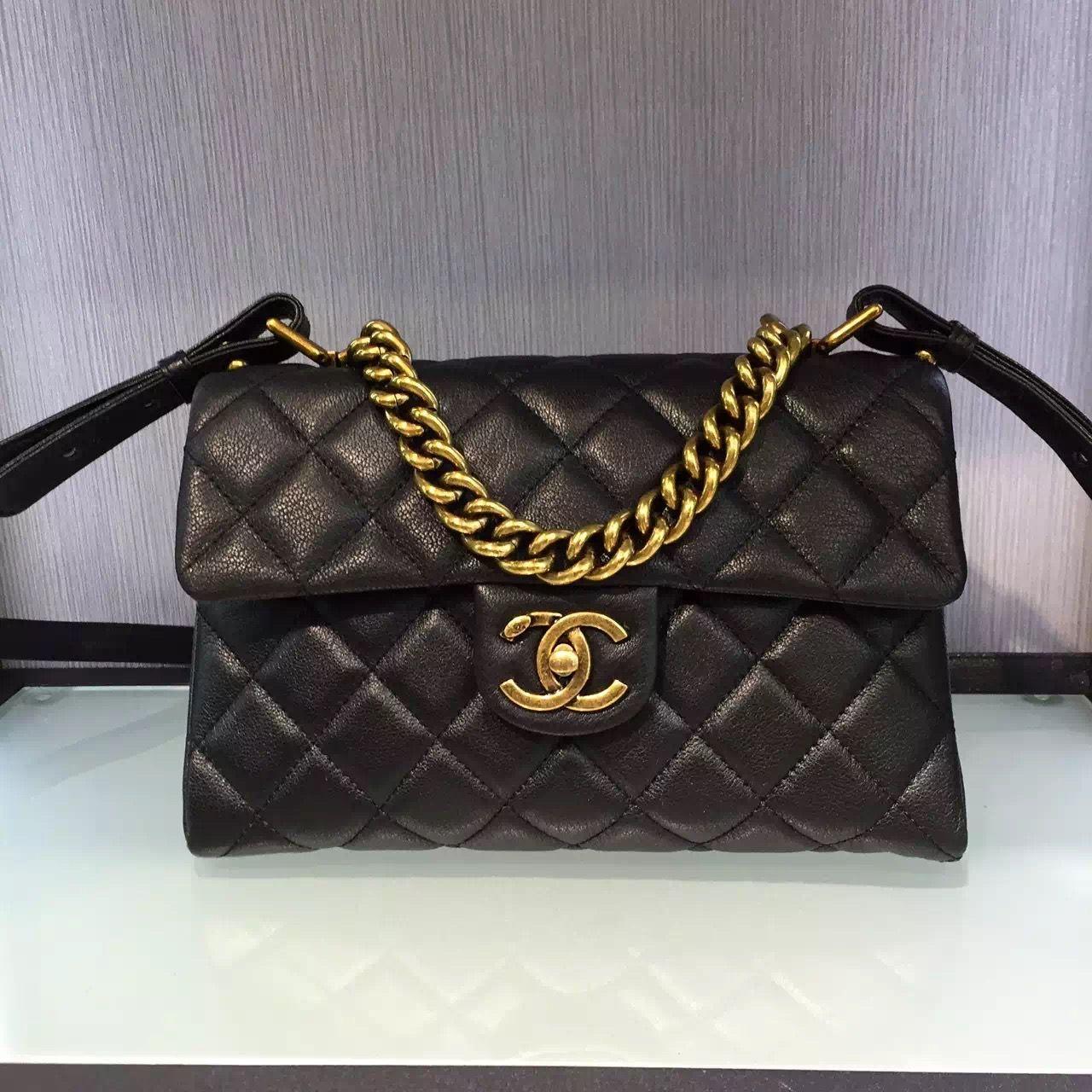 41af174e71be Chanel Sheepskin Medium Trapezio Flap Bag With Handle Paris 2016 $318  Email:winnie@shoescrazy.net
