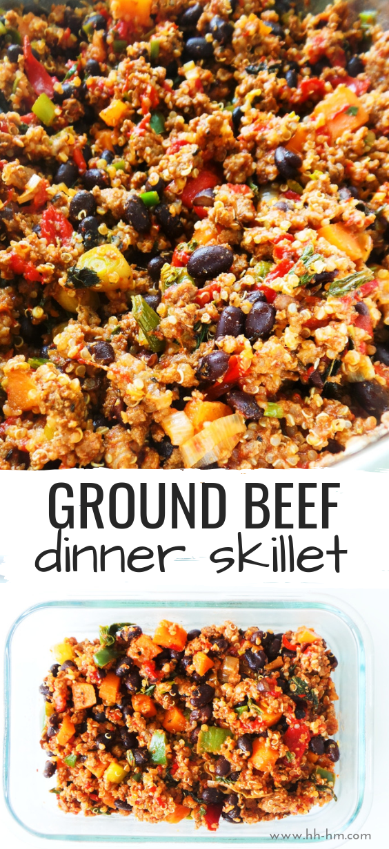 Ground Beef Dinner Skillet Recipe Easy Healthy Her Highness Hungry Me Recipe Dinner With Ground Beef Beef Dinner Ground Beef Recipes Healthy